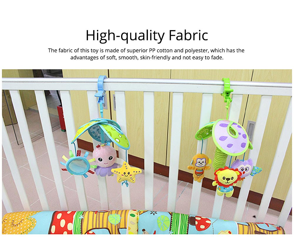 Cute Carton Forest Ocean Animal Series Baby Mobiles, Pacification Toy Wind Bell with Three Leaves Rotation Design for Infants 1