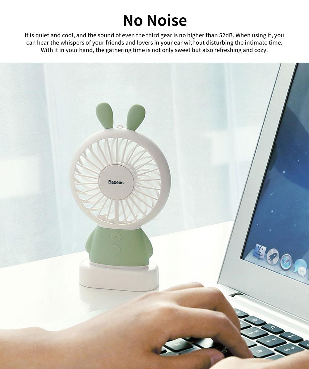 Portable Travel Mini Fan, Internal Blue and Side Light, USB Powered Handheld Fan 3