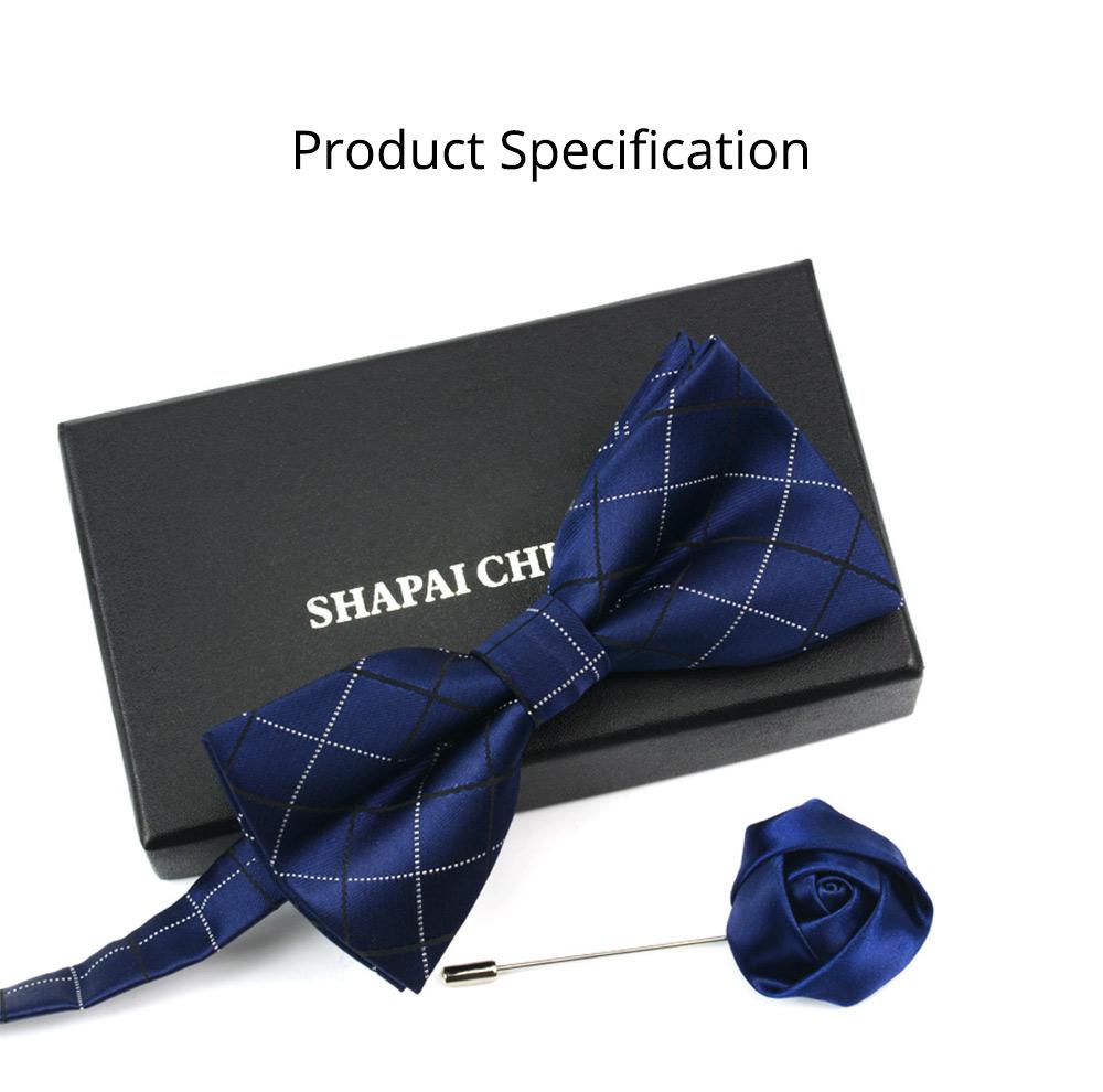 Men's Self Tie Bow Ties, Unique Grid Pattern Bow Ties, Various Styles for Groomsman Gets Married 10