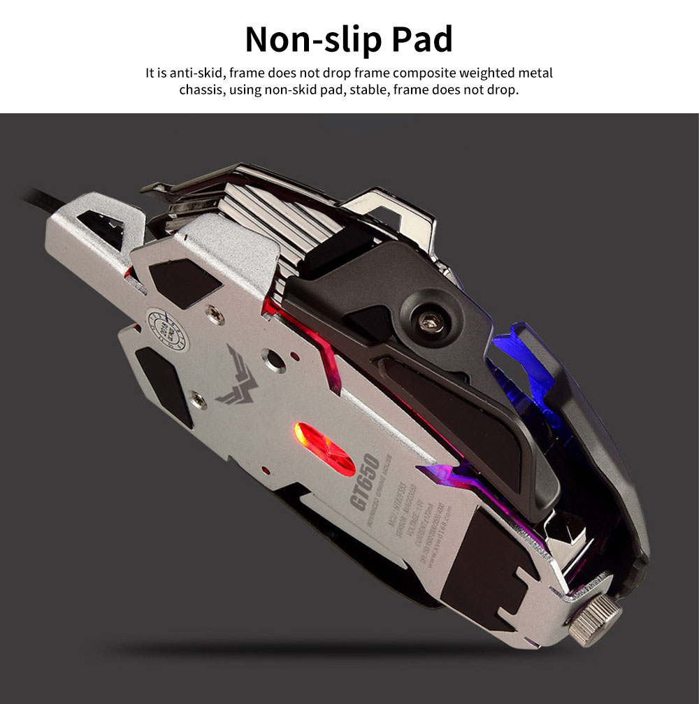 5 Key Esports Game Cool Mouse, Gaming Mouse With Two Modes and 10MM Hand Distance Support for Computer, PC, Laptop, MacBook 4