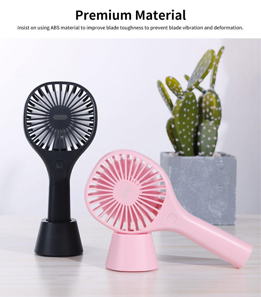 USB Charging Mini Desktop Fan with Three Adjustable Wind Speed, Desktop Student Dormitory Bed Quiet Office Rechargeable Fan 1