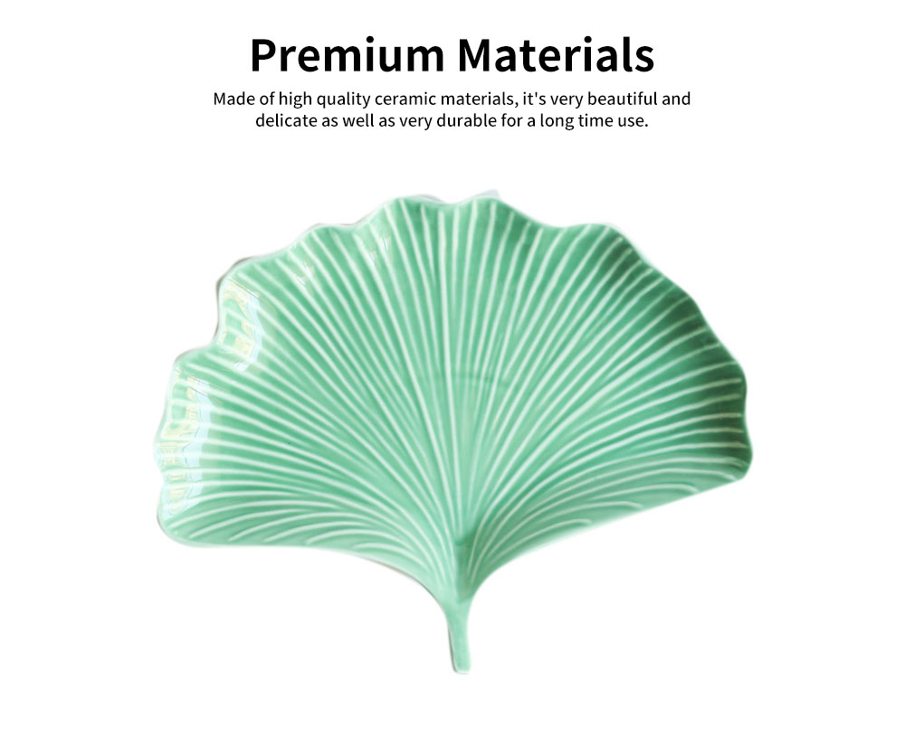 Creative Dessert Jewelry Storage Plate with Ginkgo Modeling & Streamline Design for Daily Decoration 1