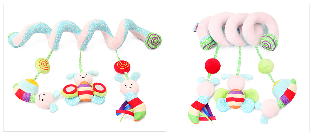 Baby Stroller Butterfly Hanging Plush Toys, Pram Bedside Winding Fluffy Pacification Toy Ornament 6
