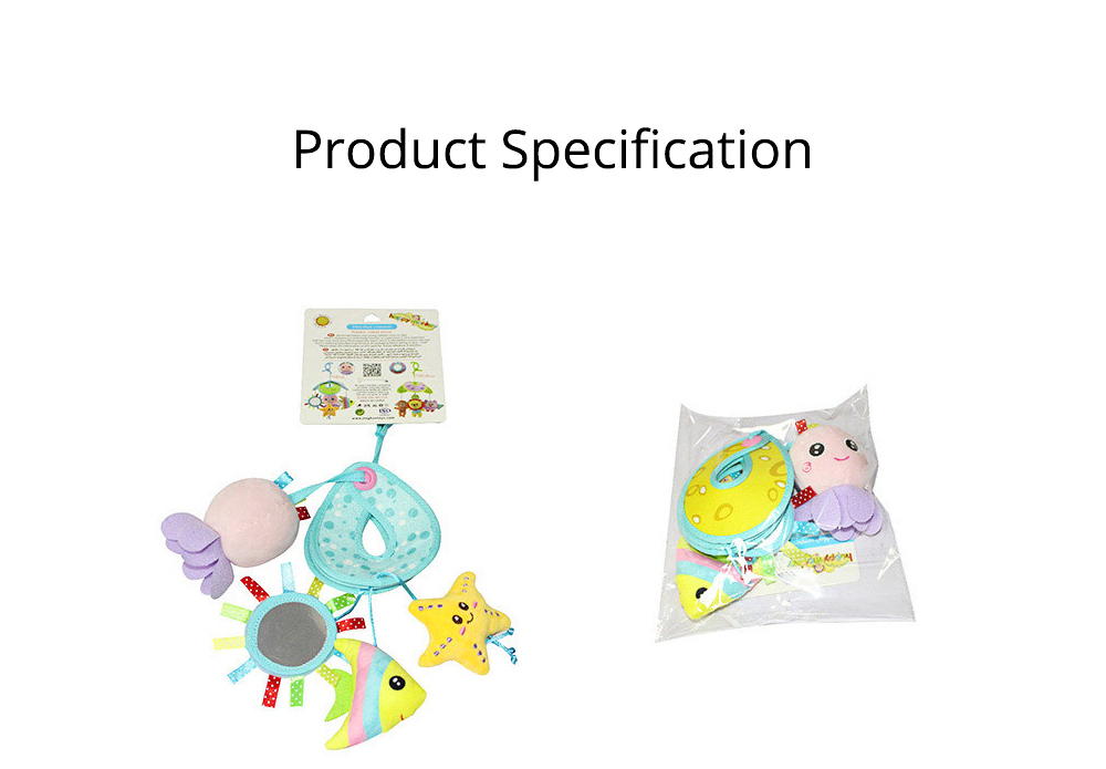 Cute Carton Forest Ocean Animal Series Baby Mobiles, Pacification Toy Wind Bell with Three Leaves Rotation Design for Infants 10