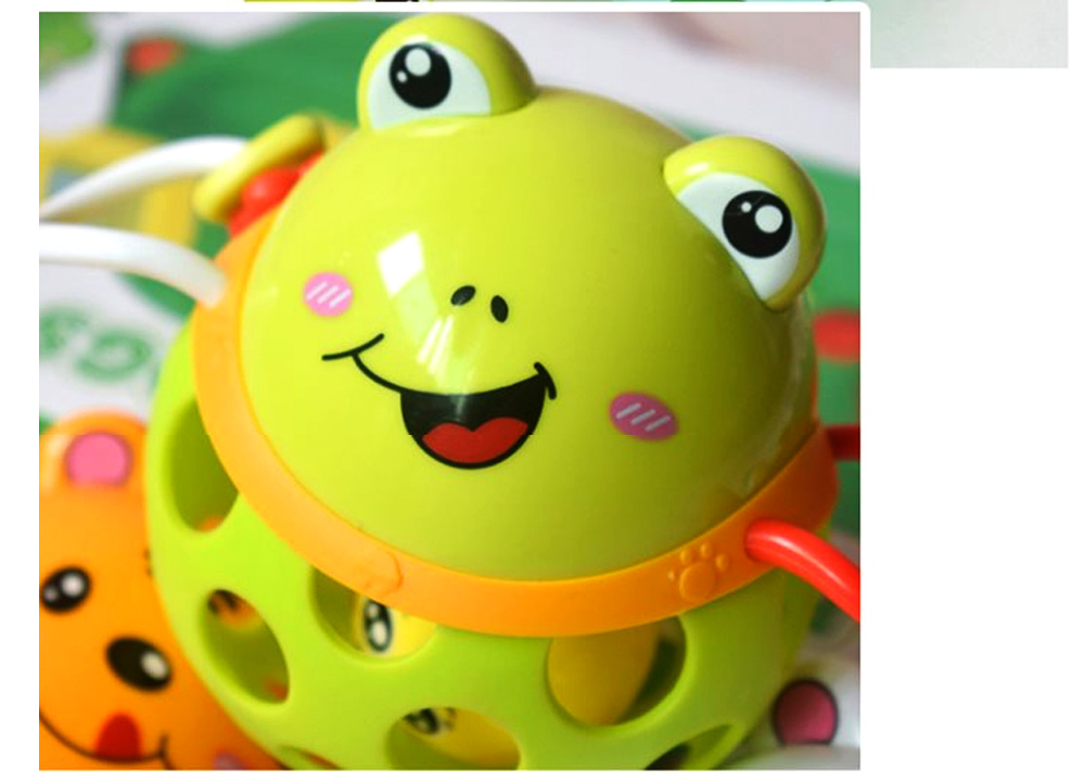 Colorful Cute Animal Baby Rattle, Creative Plastic Hand Bell Teether for Children Infants 5