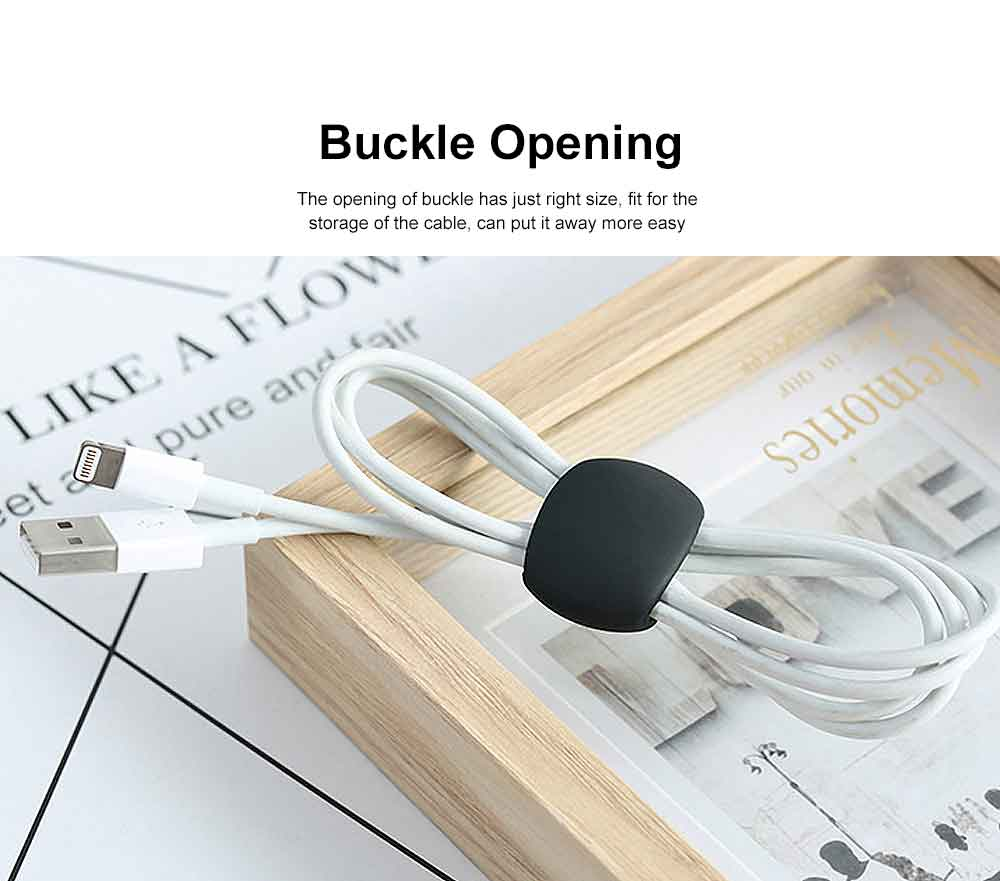 USB Data Cable Tie Wire Winding Buckle, Charging Cable Winding Storage Finishing Buckle 3