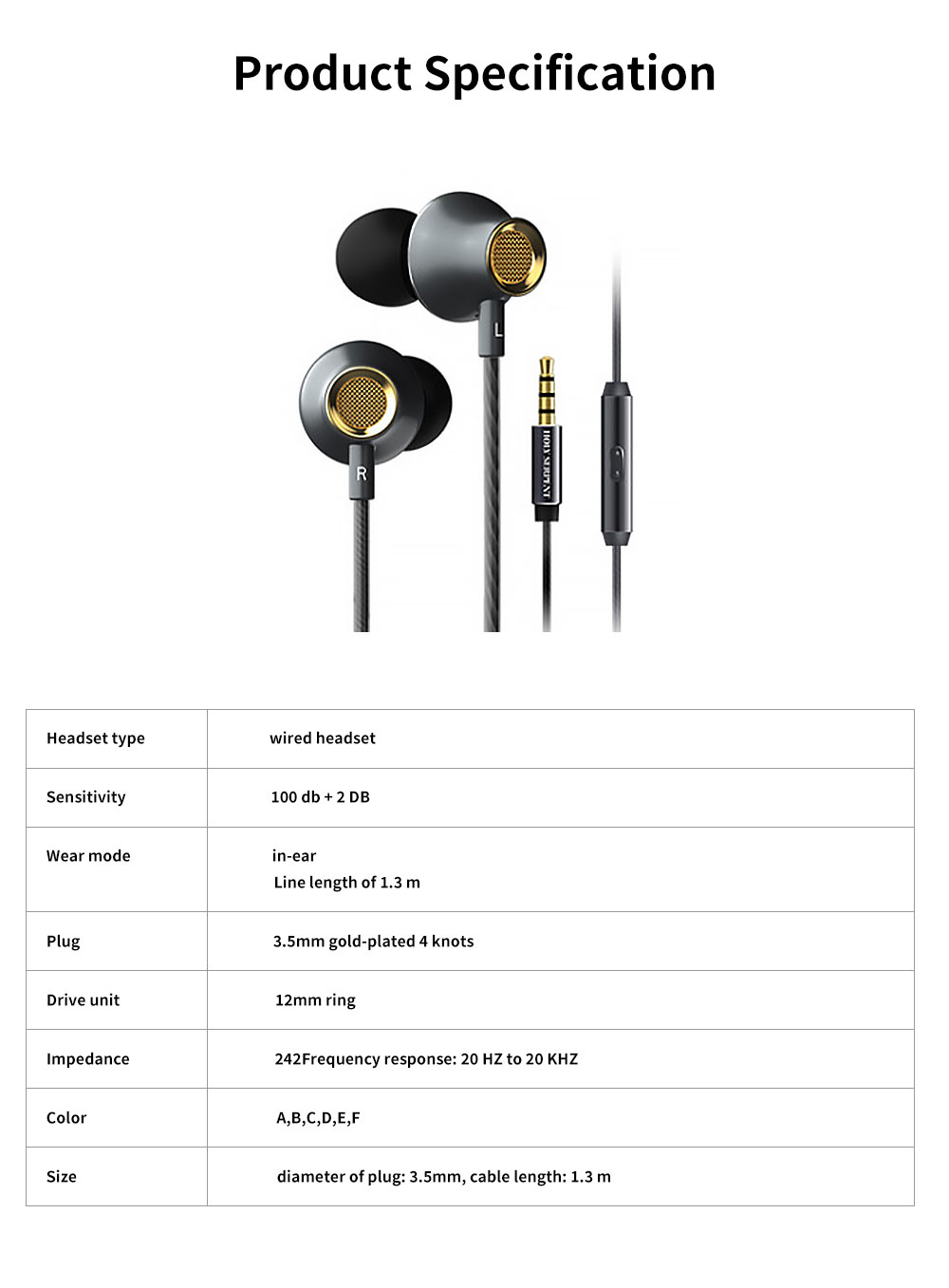 Graphene Diaphragm Headphones with 4D Surround Bass, Intelligent One-key Wire Control Wired Headset 6