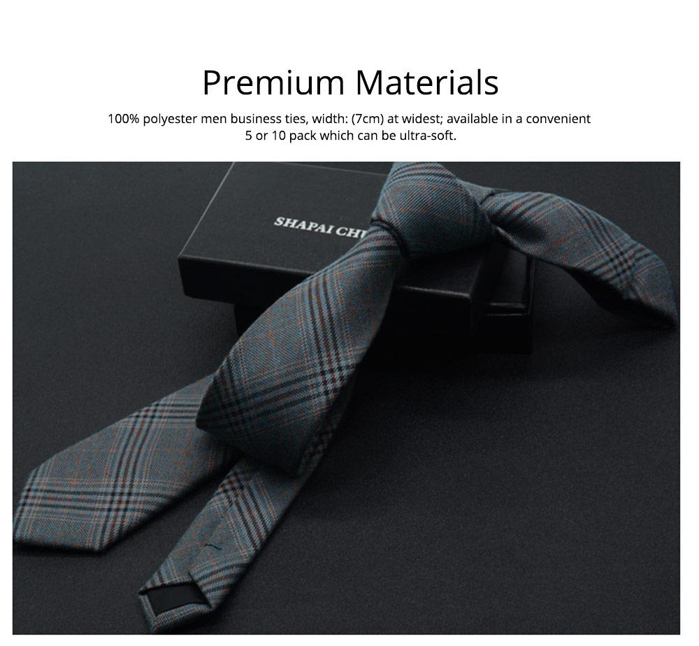Men's 6cm Narrow Bow Ties, Handcraft Unique Stripe & Grid Pattern Business Neckties- Various Styles for Men 1