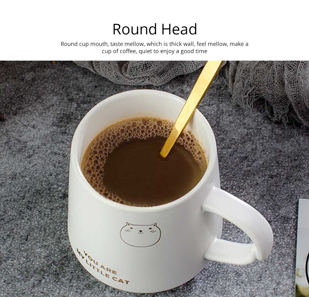 Trending Ceramic Mug for Female and Student, Cute Breakfast Coffee Cup with Lid Spoon 2