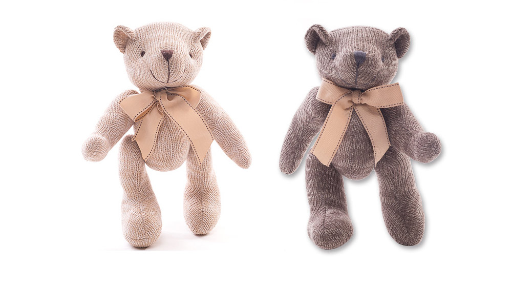 Cute Jointed Teddy Bear Doll with Bow Decoration, Animal Carton Fluffy Toy Birthday Present Gift for Children 8
