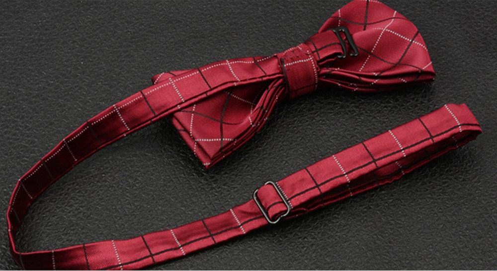 Men's Self Tie Bow Ties, Unique Grid Pattern Bow Ties, Various Styles for Groomsman Gets Married 5