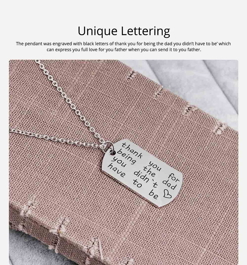 Zinc Alloy Necklace Pendant with Smear Lettering Letters & Perfect texture Lines, Father's Day Gift 1