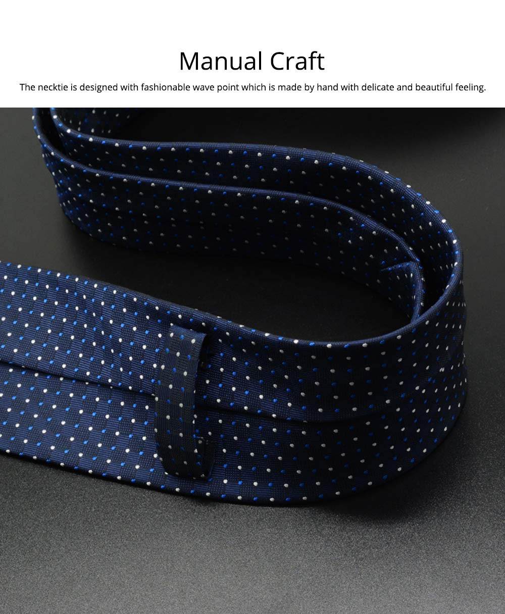 Self Tie Bow Ties for Men, Handcrafted Unique Wave Point Pattern Business Neckties for Groomsmen Gets Married, Various Styles 8