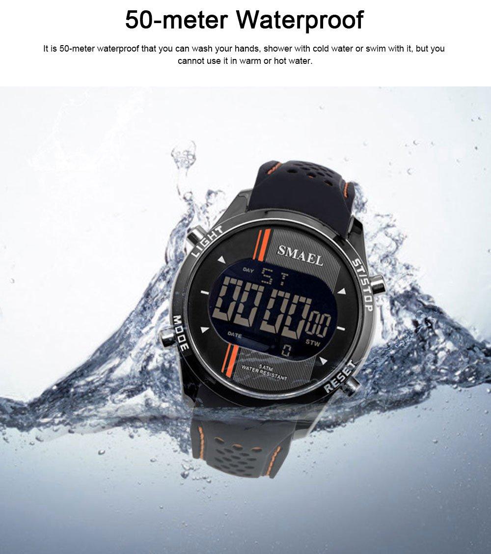 Digital Sport Watch for Men, Multifunctional Smartwatch 50M Waterproof Outdoors Watch 2