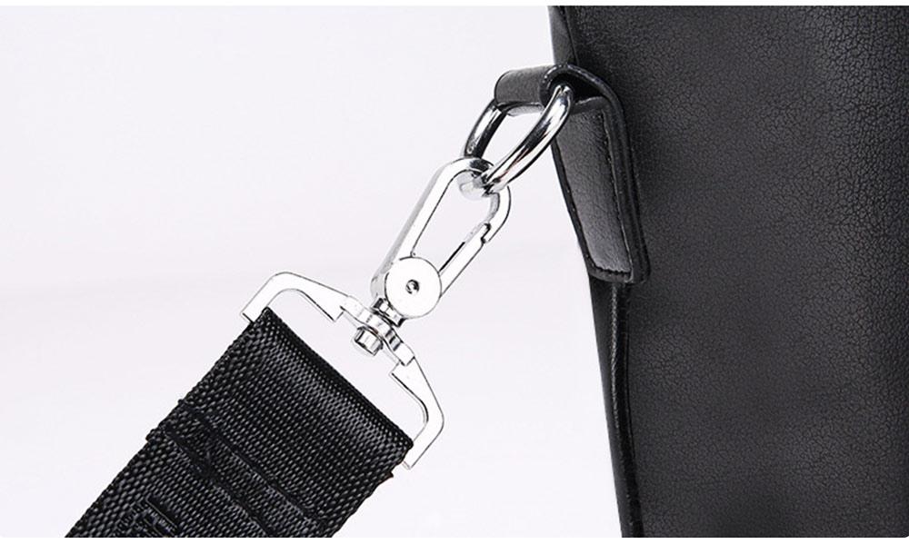 Single Shoulder Bag with Comfortable Hand Belt, PU Leather Large Capacity Inclined Shoulder Bag 10