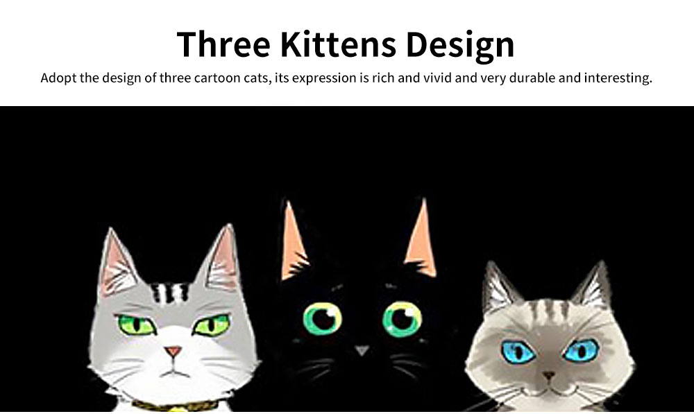 Non-drop Phone Case for HUAWEI Mate 20x/20, mate 9/9 pro, HD Colorless Painted Soft Shell Full Package with Black Background Design of Three Kittens 2