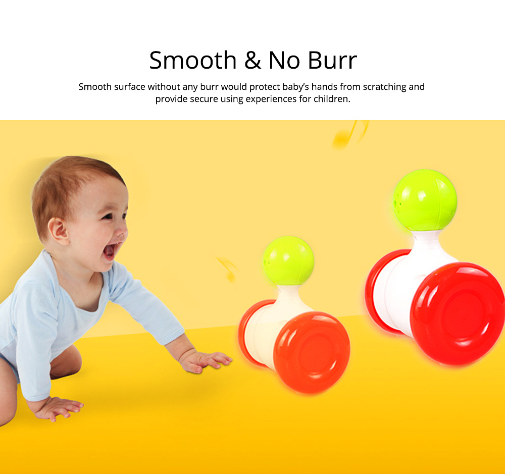 Funny Colorful Solid Plastic Pulley Tumbler Toy, Infants Babies Delicate Early Education Toy with Sound Effect 2
