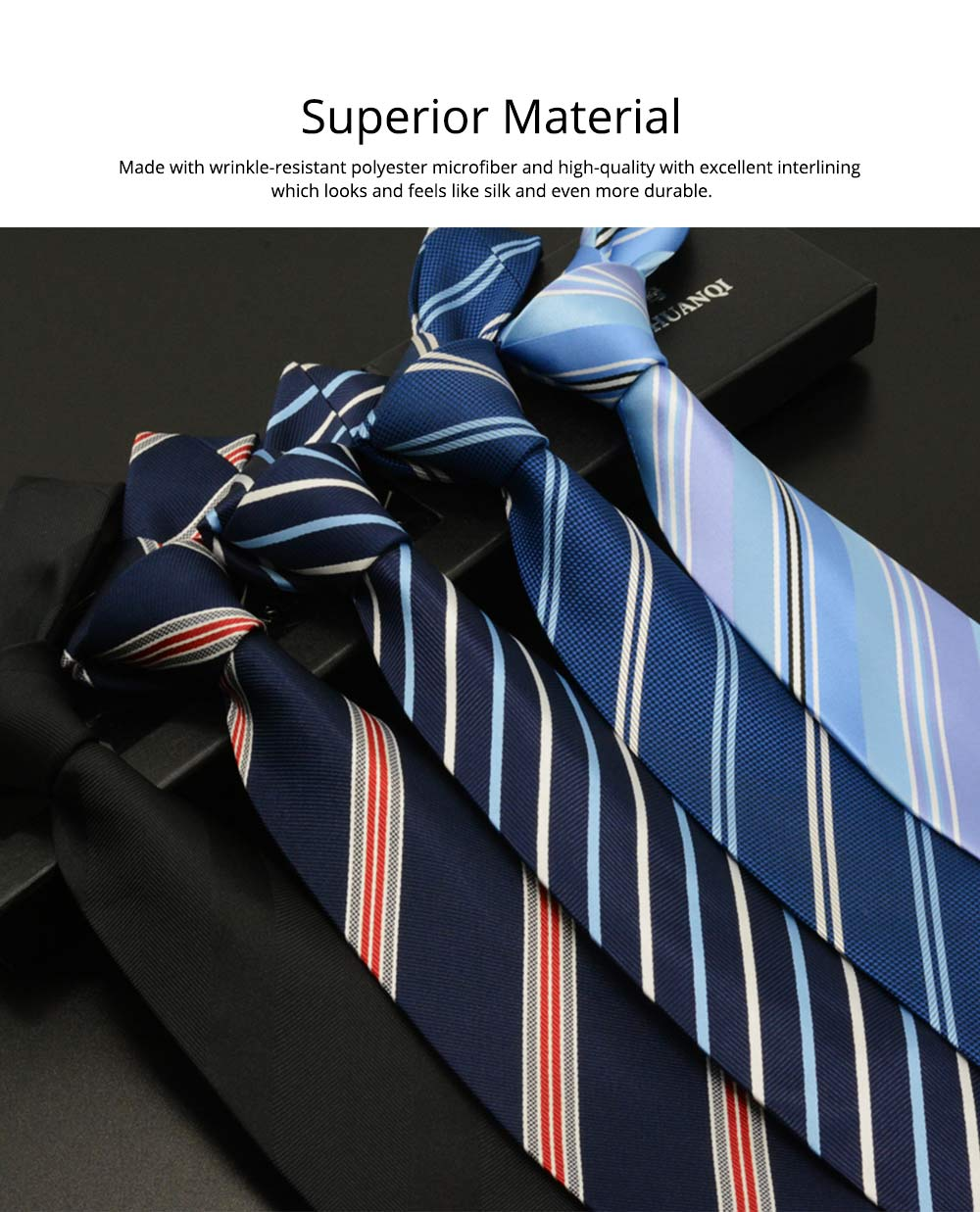 Men's 8cm Business Necktie, Handcraft Unique Stripe Pattern Business Neckties- Various Styles 1