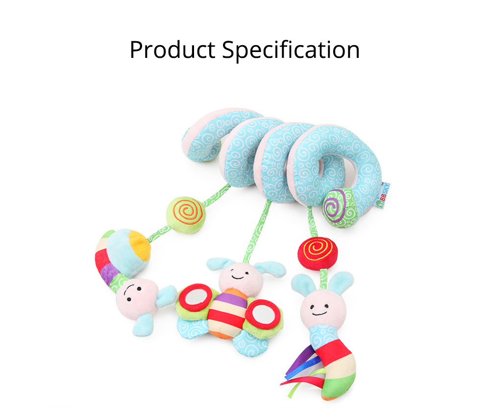Baby Stroller Butterfly Hanging Plush Toys, Pram Bedside Winding Fluffy Pacification Toy Ornament 9