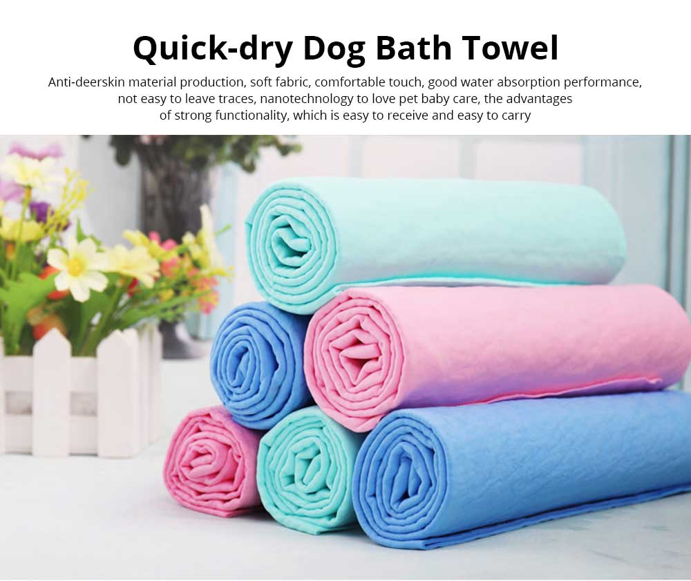 Thickened Cat Bath Towel, Quick-Dry Dog Bath Towel, Deerskin Soft Pet Products Super Absorbent Towel 0