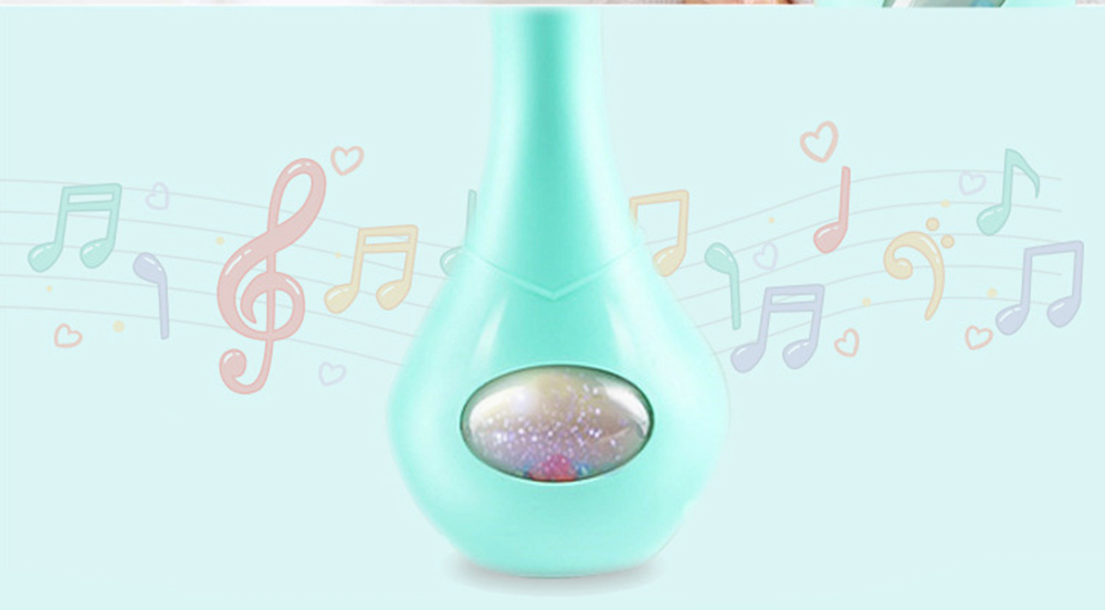 Cute Rabbit Model Babies Grinding Gum Teether Toy, Creative Music Colorful Light Molar Bite Toy for Infant Kids 6