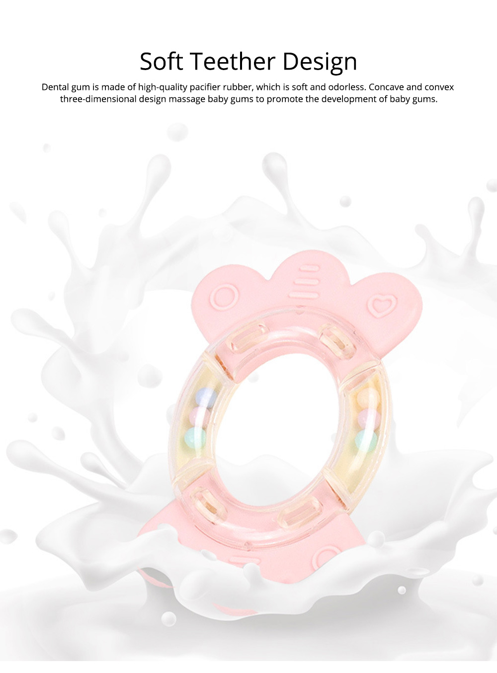 Cute Fancy Rattle 5PCS 8PCS 10PCS Suit for Infants, Durable ABS New-born Baby Hand Bell Puzzle Toy, Can Be Boiled 6