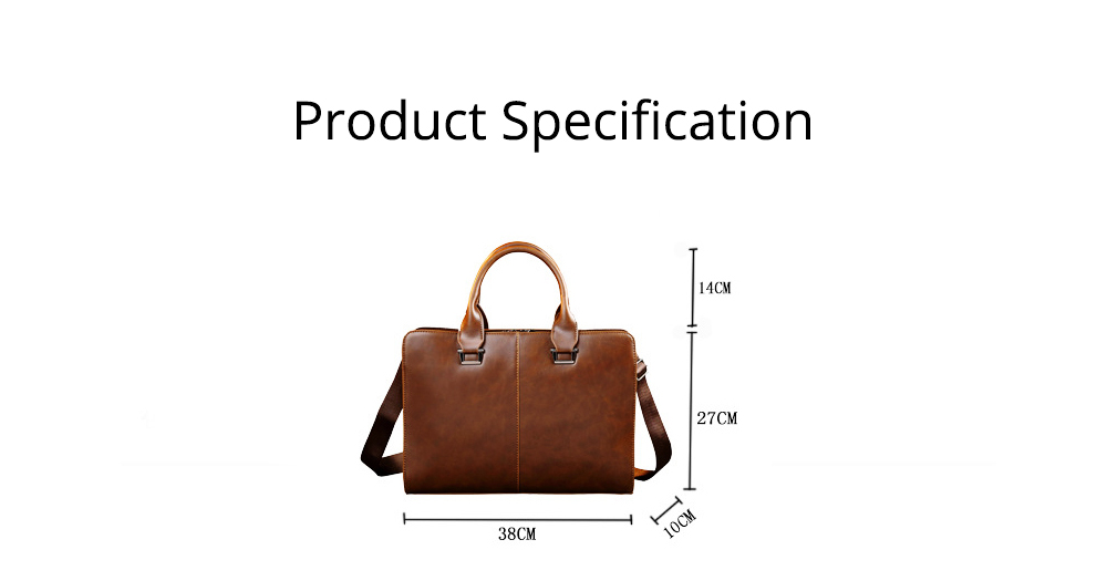 Business Shoulder Bag with Comfortable Hand Belt & Metal Zipper, PU Leather & Square Pull Card Shoulder Bag 11