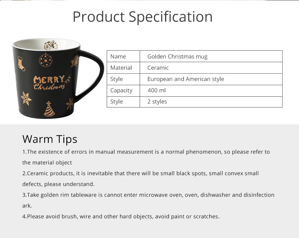 Christmas Couple Mug, Female Creative Nordic Mug, Large Capacity Ceramic Cup, Coffee Cup 6