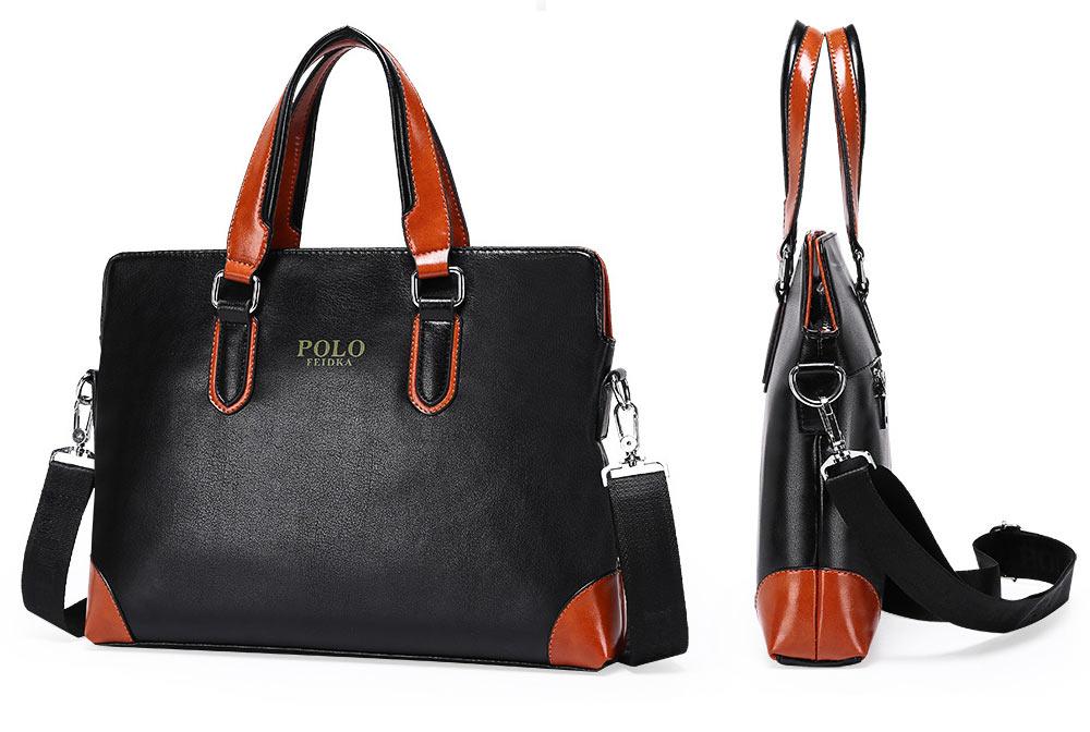 Single Shoulder Bag with Comfortable Hand Belt, PU Leather Large Capacity Inclined Shoulder Bag 6