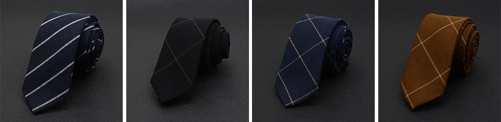 Men's 6cm Narrow Bow Ties, Handcraft Unique Stripe & Grid Pattern Business Neckties- Various Styles for Men 5