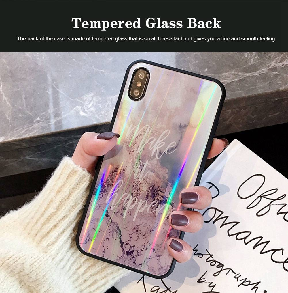 iPhone Protection Case Tempered Glass Back for iPhone XS/8 Plus/MAX/XR/7 Plus 1