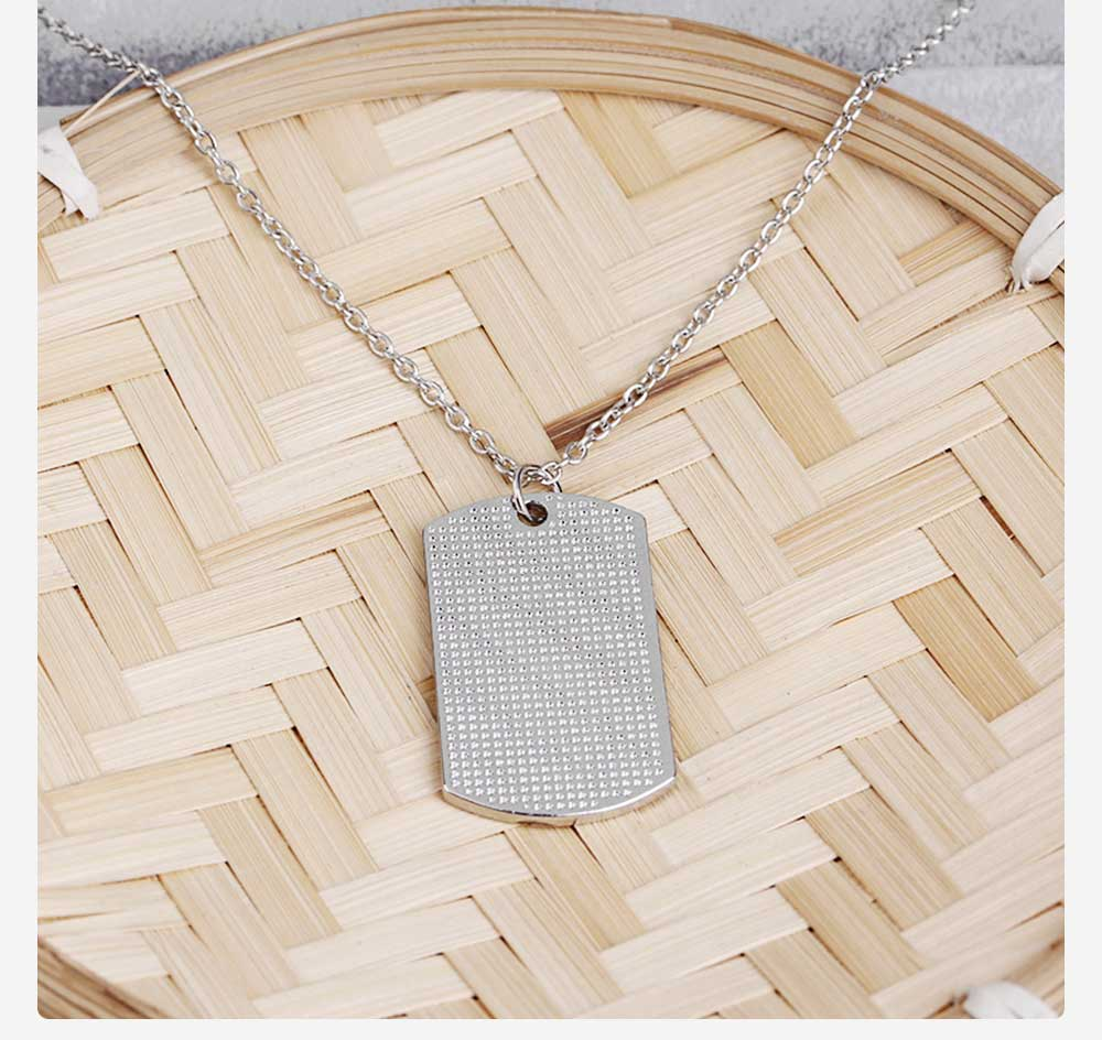 Zinc Alloy Necklace Pendant with Smear Lettering Letters & Perfect texture Lines, Father's Day Gift 4