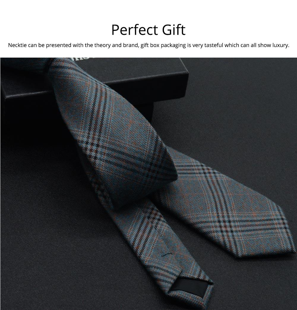 Men's 6cm Narrow Bow Ties, Handcraft Unique Stripe & Grid Pattern Business Neckties- Various Styles for Men 7