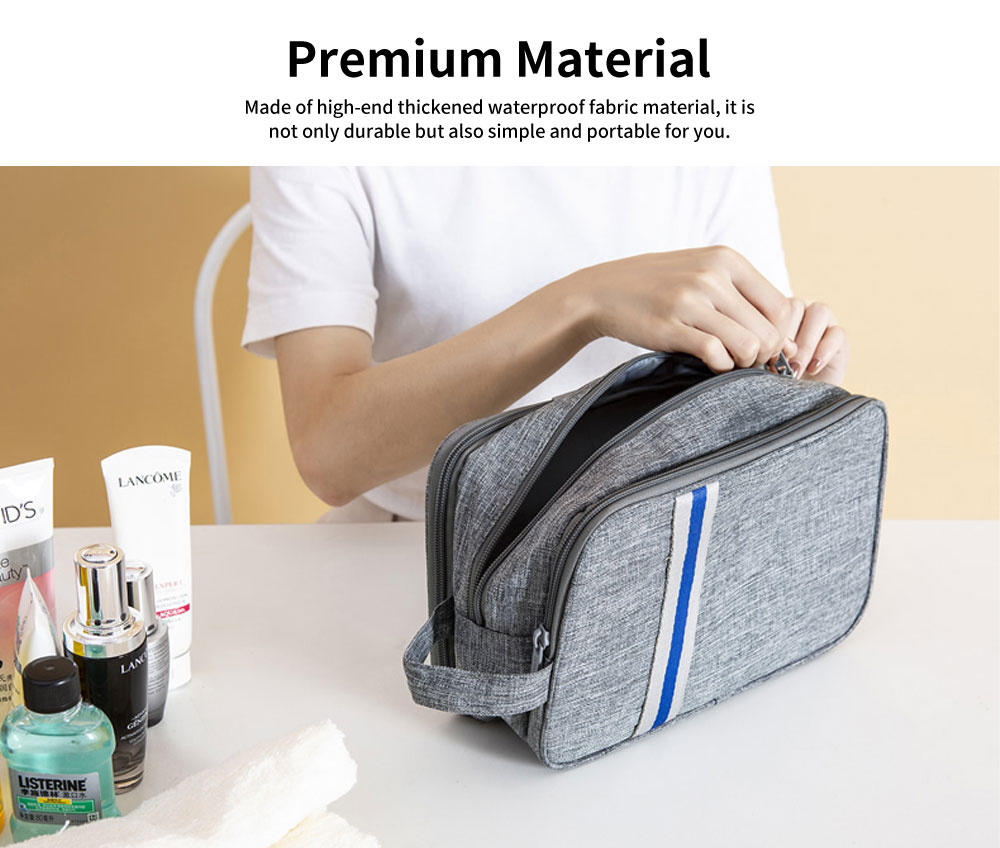 Large-capacity Waterproof Toiletry Bag Cosmetic Storage Bag with Separating Dry & Wet Function for Business Trips 1