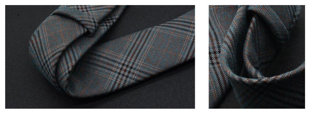 Men's 6cm Narrow Bow Ties, Handcraft Unique Stripe & Grid Pattern Business Neckties- Various Styles for Men 2