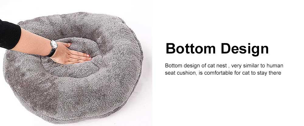 Plush Triangle Cat Nest Bed, Keep Warm Cat Nesting Dolls, Luxury Cotton Kitty Nest 4