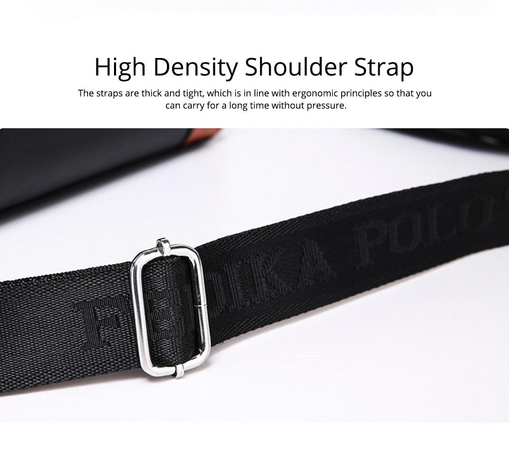 Single Shoulder Bag with Comfortable Hand Belt, PU Leather Large Capacity Inclined Shoulder Bag 9