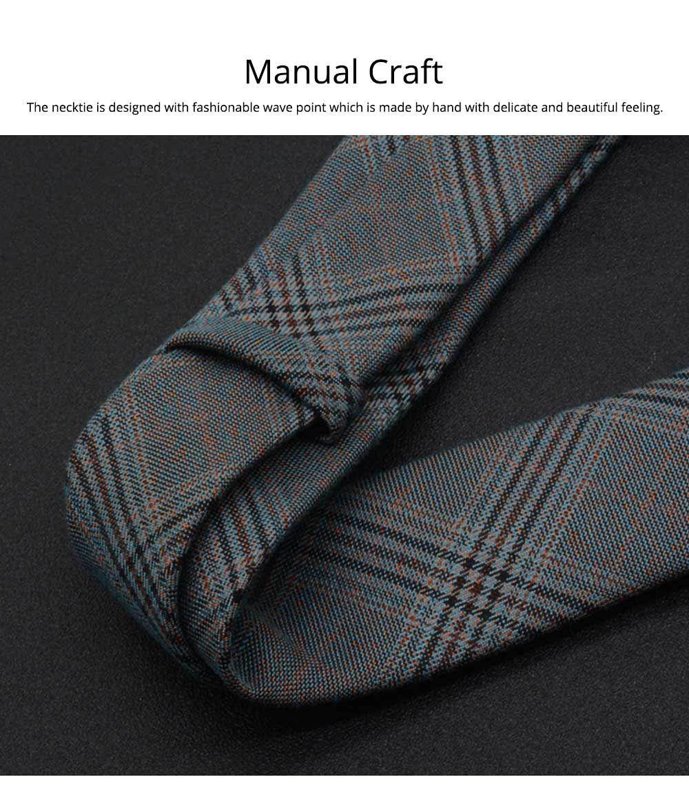 Men's 6cm Narrow Bow Ties, Handcraft Unique Stripe & Grid Pattern Business Neckties- Various Styles for Men 3