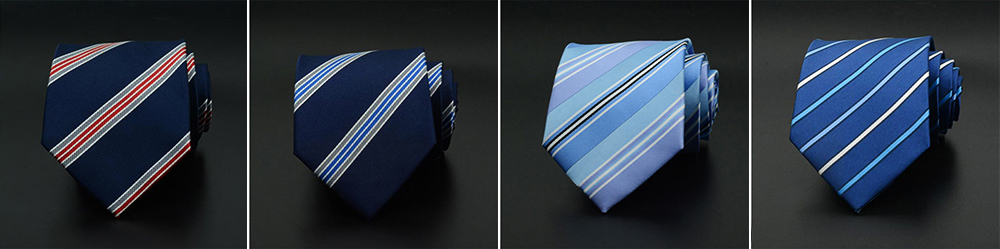 Men's 8cm Business Necktie, Handcraft Unique Stripe Pattern Business Neckties- Various Styles 4