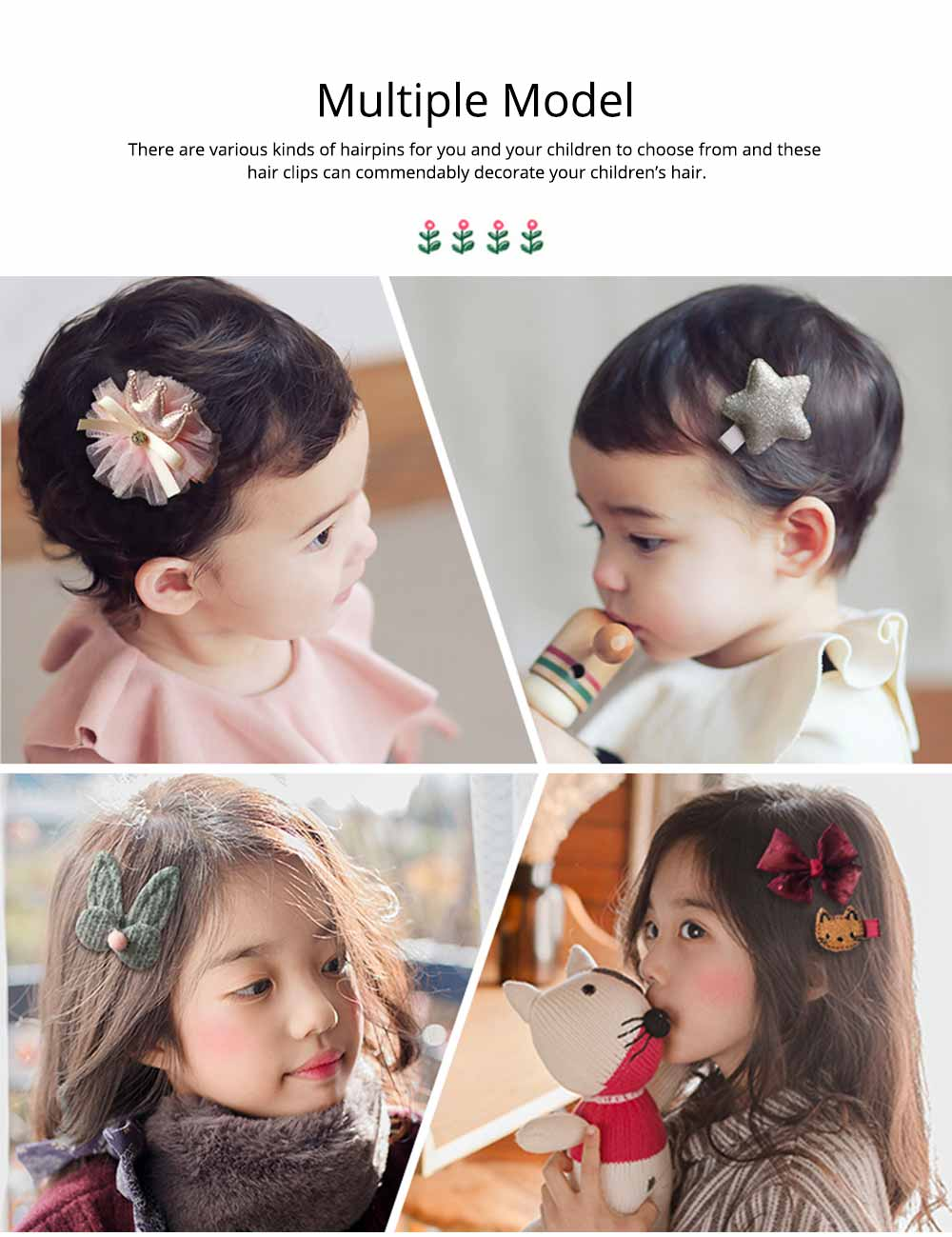 Stylish Cartoon Bow Hair Accessories Set for Girl, 18 PCS Hair Decoration Barrette New Year Birthday Gift Present Award for Girls Children 8