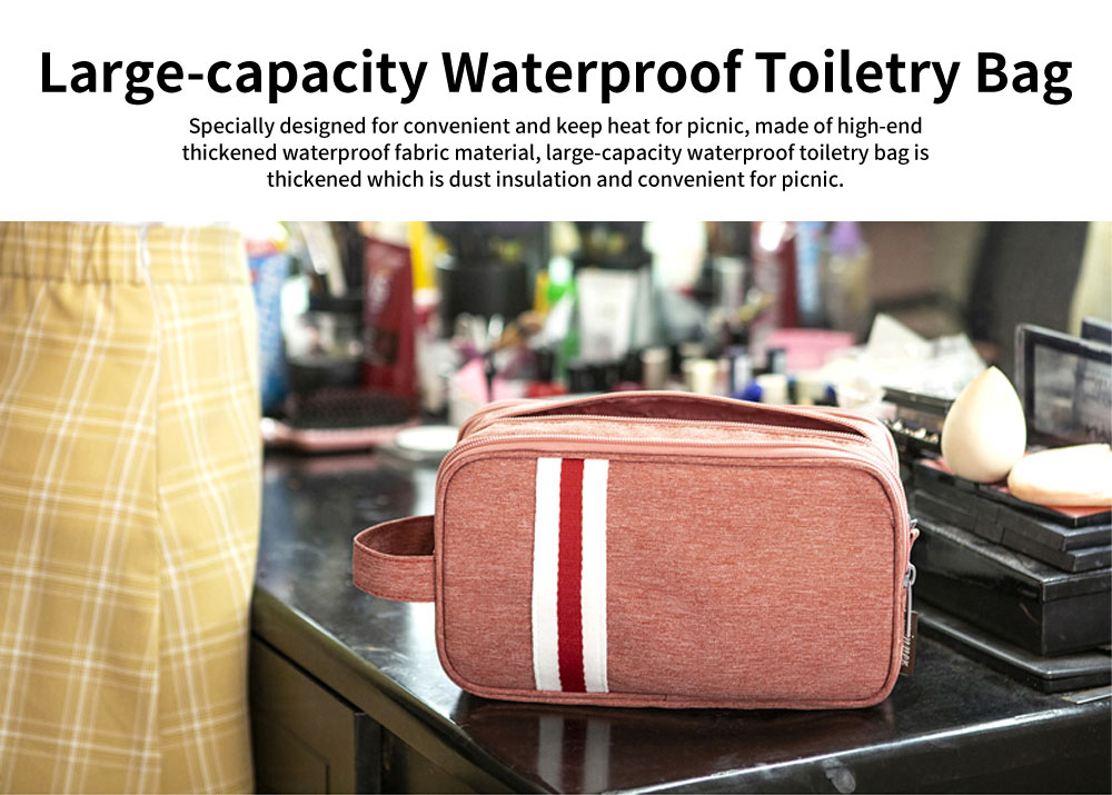 Large-capacity Waterproof Toiletry Bag Cosmetic Storage Bag with Separating Dry & Wet Function for Business Trips 0