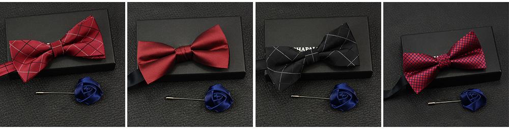 Men's Self Tie Bow Ties, Unique Grid Pattern Bow Ties, Various Styles for Groomsman Gets Married 8