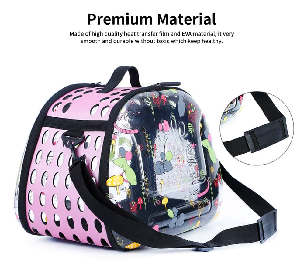 Transparent Portable Folding Pet Back Pack with Porous Air & Elegant Zipper Design for Pets Outdoors 1