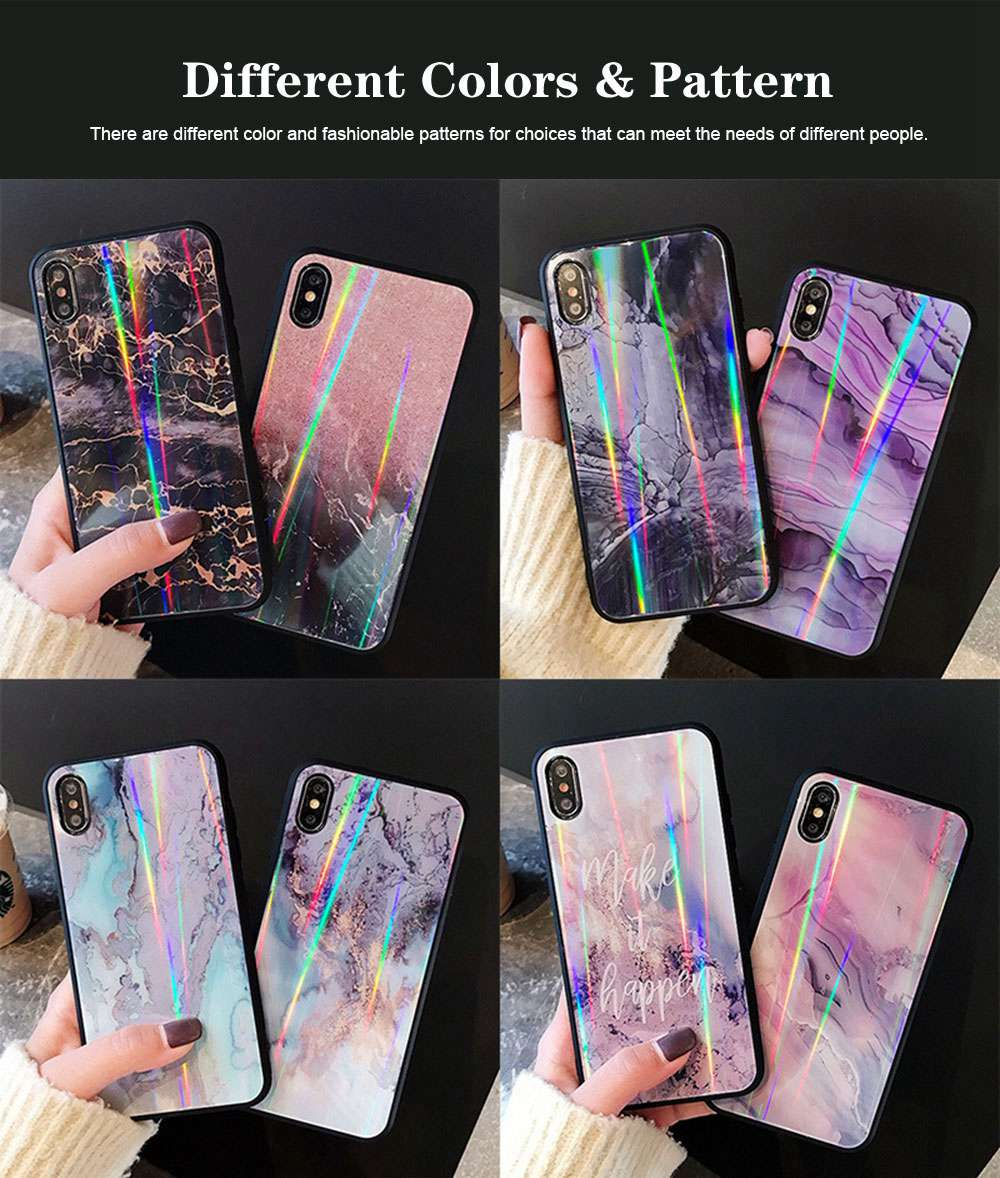 iPhone Protection Case Tempered Glass Back for iPhone XS/8 Plus/MAX/XR/7 Plus 4