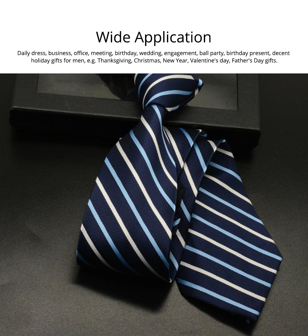 Men's 8cm Business Necktie, Handcraft Unique Stripe Pattern Business Neckties- Various Styles 6