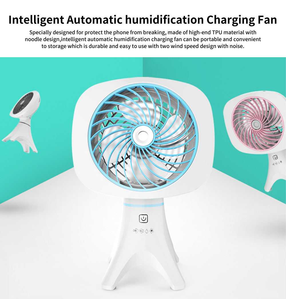 Intelligent Automatic humidification Charging Fan with Four Levels and Intelligent Touch Switch Design 0