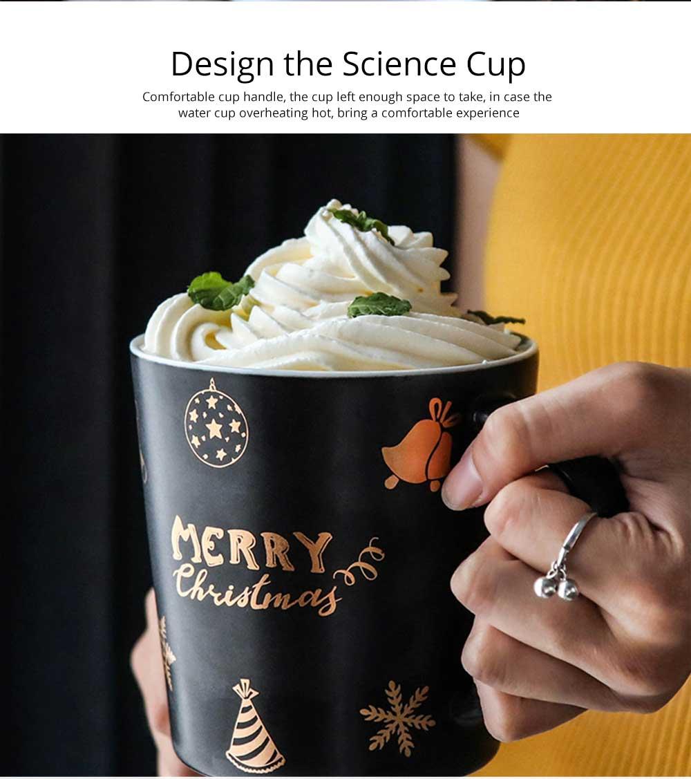Christmas Couple Mug, Female Creative Nordic Mug, Large Capacity Ceramic Cup, Coffee Cup 3