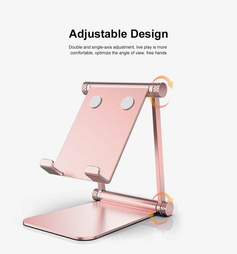 Aluminum Alloy Metal Flexable Tablet Phone Stand Holder, Desktop Foldable Adjustable Kickstand for Universal 1