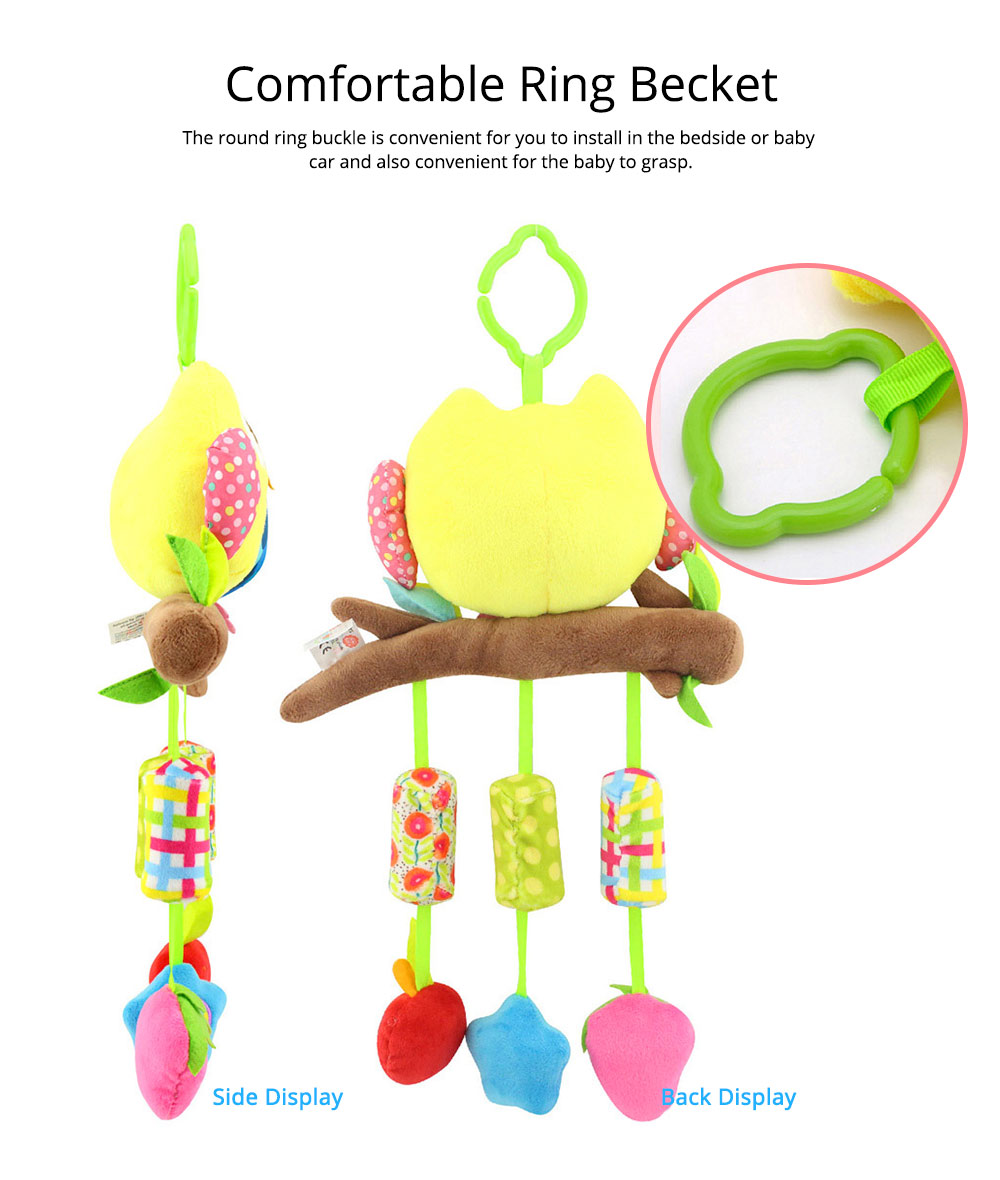 Cute Cartoon Animal Plush Baby Mobile, Delicate Fancy Pacification Early Education Stroller Hanging Toy for Infants Babies 5