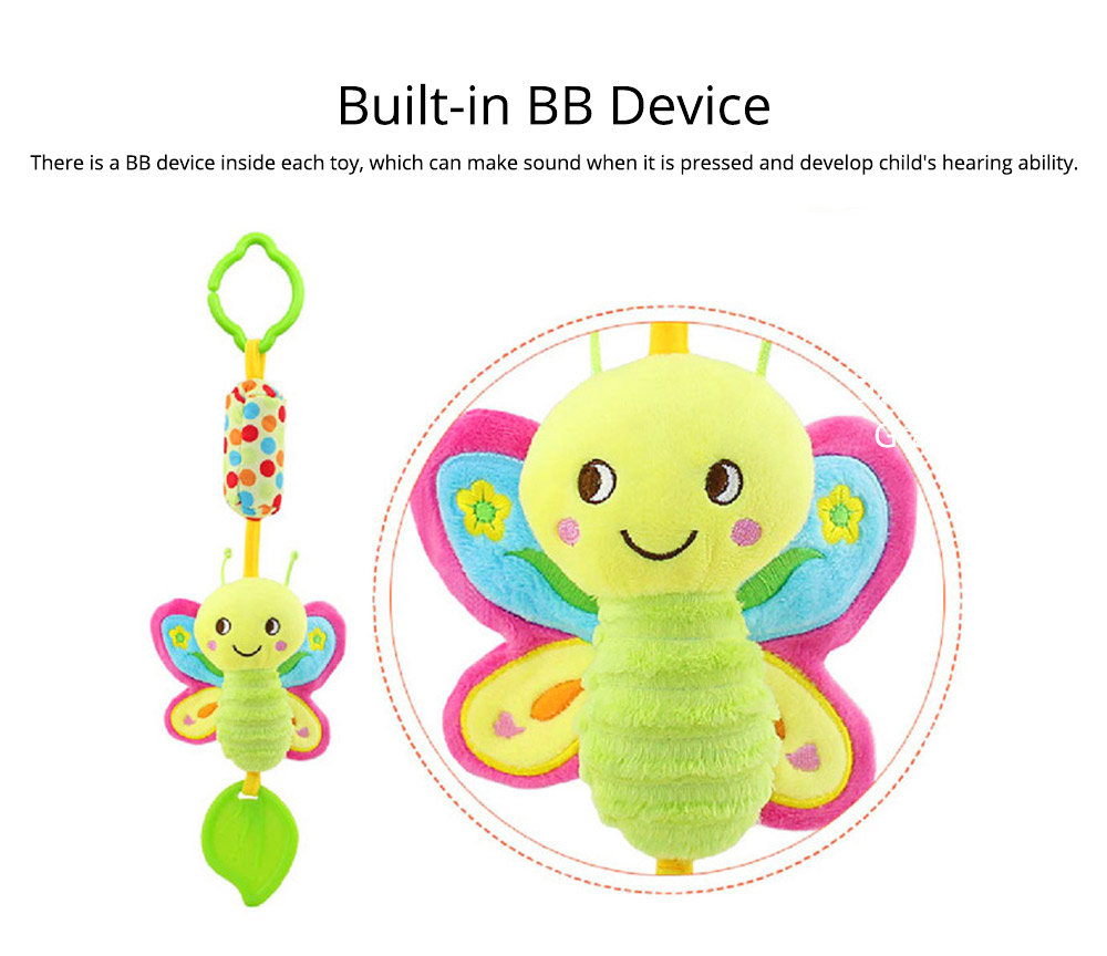Cute Carton Baby Teether with Butterfly Chick Owl Bird Model, Soft Grinding Gum Campanula Series Pacification Toy 6